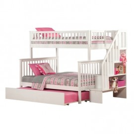 Twin over Double Woodland Staircase Bunk