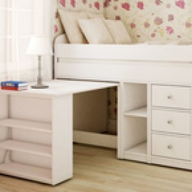 Belair Twin Captain's Bed With Desk